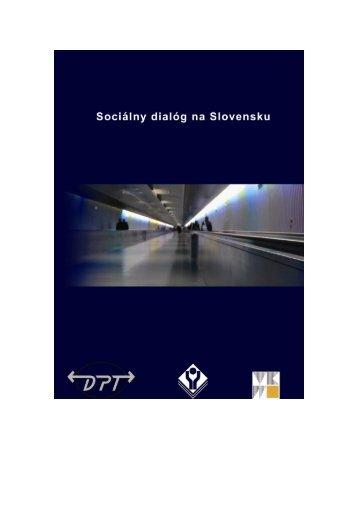 """Príručka """"Sociálny dialóg na Slovensku"""""""