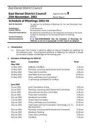 Schedule of Meetings 2003/04