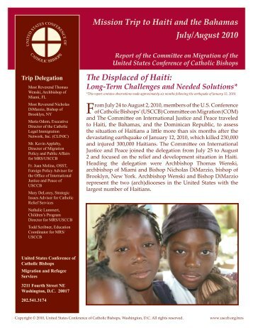 Mission Trip to Haiti and the Bahamas - United States Conference of ...