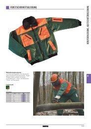 Forst-Schutzbekleidung BBB-Katalog