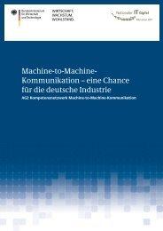 eine Chance für die deutsche Industrie - M2M Alliance