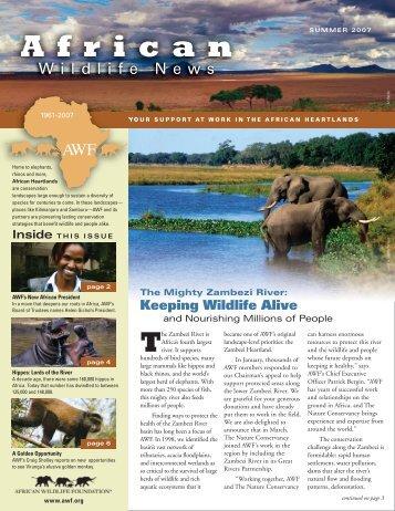 Zambezi: Keeping Wildlife Alive - African Wildlife Foundation