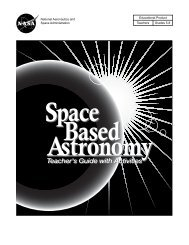 Space Based Astronomy Teacher's Guide With Activities - ER - NASA