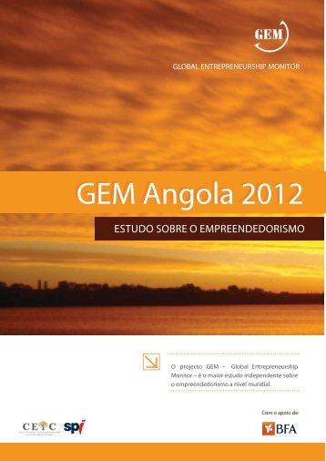 GEM Angola 2012 - Sociedade Portuguesa de Inovação