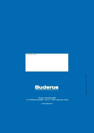 Buderus Chauffage SAS 4 rue Wilhelm Schaeffler - B.P. 31 - 67501 ...