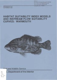 habitat suitability index models and instream flow suitability curves