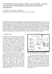 Paper title - Geological Survey of Finland