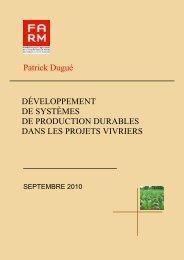 Patrick Dugué DÉVELOPPEMENT DE ... - Fondation FARM