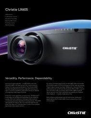 Christie LX605 Brochure - Christie Digital Systems