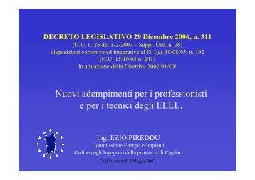 Nuovi adempimenti per i professionisti e per i tecnici degli Enti locali