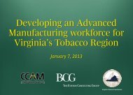 Advance Manufacturing Workforce Plan Presentation - Virginia ...