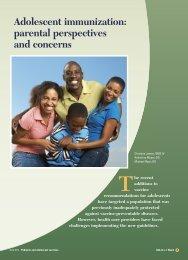 Adolescent immunization: parental perspectives and ... - CECity