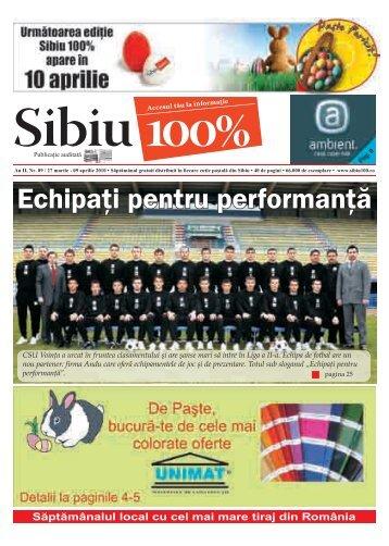 Echipaţi pentru performanţă - Sibiu 100