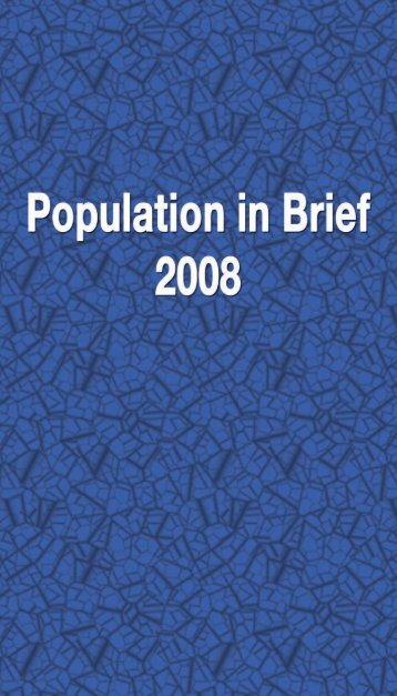 WoG Statistics Booklet - Population in Brief 2008