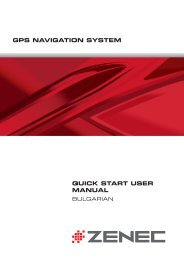 GPS NAVIGATION SYSTEM QUICK START USER MANUAL - Zenec