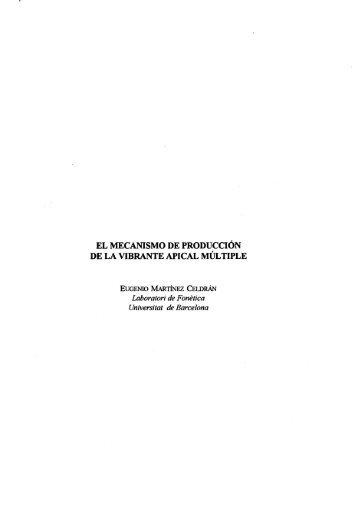 el mecanismo de producción de la vibrante apical múltiple - Raco