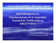 Funcionamiento de la Autoridad Nacional de Notificación en Argentina