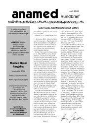 Rundbrief April 2009