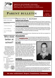 Bulletin 5 – May 27th - Drouin Secondary College