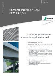 Karta produktowa CEM I 42,5 R - Lafarge