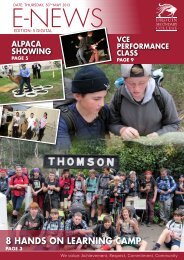 Bulletin 6 – May 30th - Drouin Secondary College