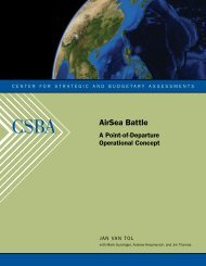 AirSea Battle - Center for Strategic and Budgetary Assessments