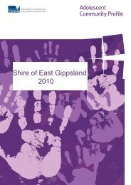 Shire of East Gippsland 2010 - Department of Education and Early ...
