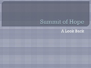 Summit of Hope - Illinois Public Health Association