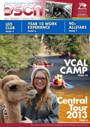 Bulletin 8 – August 1st - Drouin Secondary College