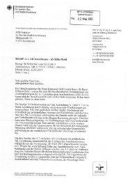 Schriftverkehr BMVBS - SPD-Fraktion im Rat der Stadt Leverkusen