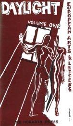 Volume 1 - Modernist Magazines Project