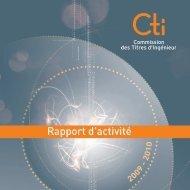 Téléchargez le rapport d'activité de la CTI - Commission des Titres d ...