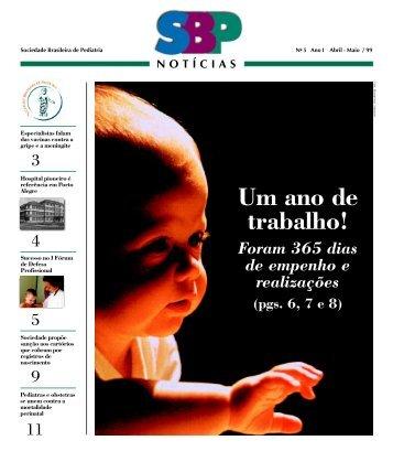 Um ano de trabalho! - Sociedade Brasileira de Pediatria