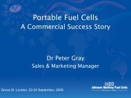 Portable fuel cells – a commercial success story - Eleventh Grove ...