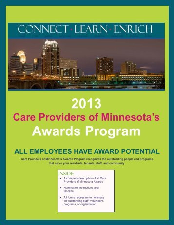 2013 Awards Program - Care Providers of Minnesota