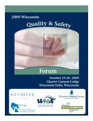 more information - Wisconsin Association for Healthcare Quality