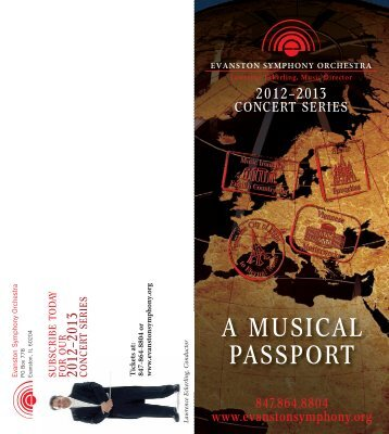 A MUSICAL PASSPORT - Evanston Symphony Orchestra