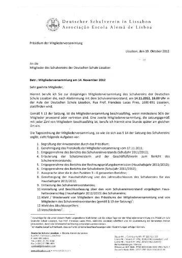 oH^% Deutscher Schulverein in Lissabon ^ Associação Escola ...