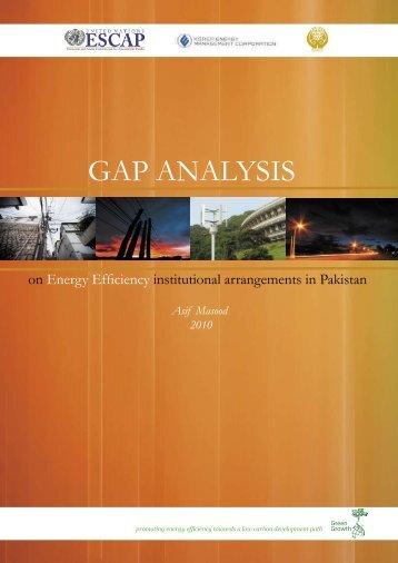 Gap Analysis for Pakistan - eeAsia - escap