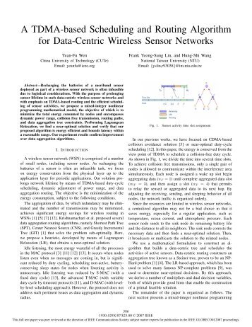 A TDMA-based Scheduling and Routing Algorithm for ... - IEEE Xplore