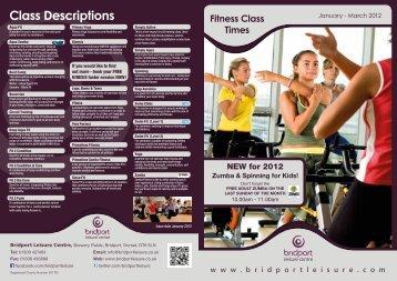 Fitness Classes - Bridport Leisure