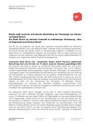 Studie zeigt verzerrte und falsche Darstellung der ... - SP Stadt Zürich
