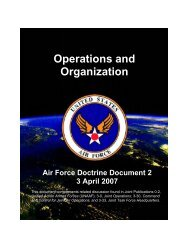 AFDD 2 Operations and Organization - Air Force E-Publishing