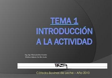 Tema 1. Argentina y otros países 2010