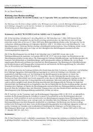 Rückzug eines Rechtsvorschlags - Baur Hürlimann