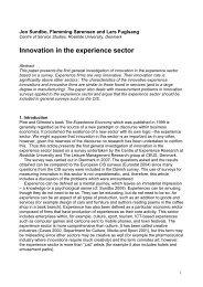 Innovation in the experience sector - Det Danske Ledelsesakademi