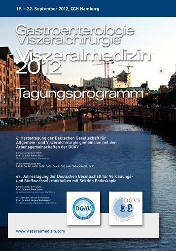 Download Hauptprogramm DGAV 2012 - Viszeralmedizin 2013