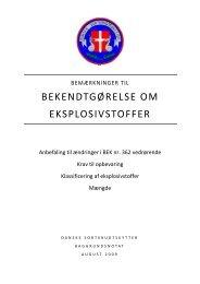 bekendtgørelse om eksplosivstoffer - Forbundet Af Danske ...