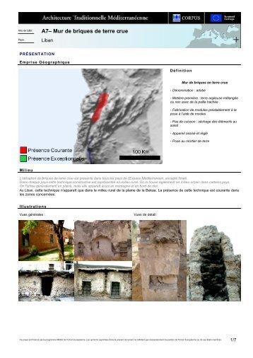 A7– Mur de briques de terre crue