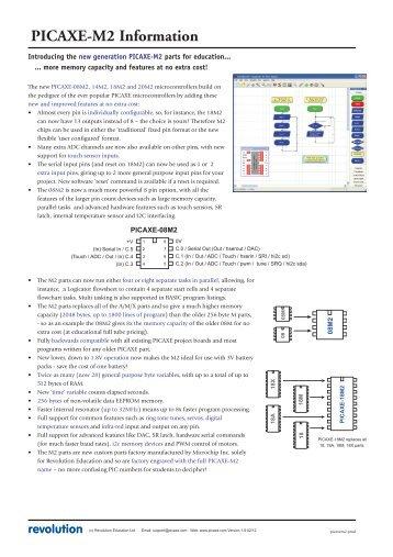 Evolution unit 2 industri picaxe m2 information sciox Images